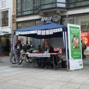 Hier ein paar Impressionen vom Selbsthilfegruppenmarkt in Offenbach in der Fußgängerzone